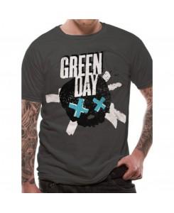CID - Green Day - Crossed Skull Grau