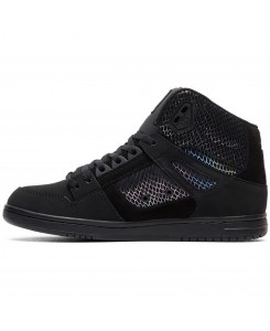 DC - Pure High-Top SE ADJS100116 Black/Silver/Black