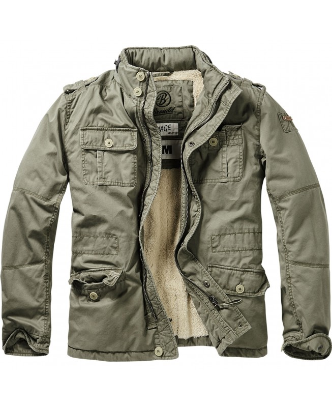 Brandit Britannia Winter Jacket 9390 1 Olive Outdoor Winterjacke Herren Army