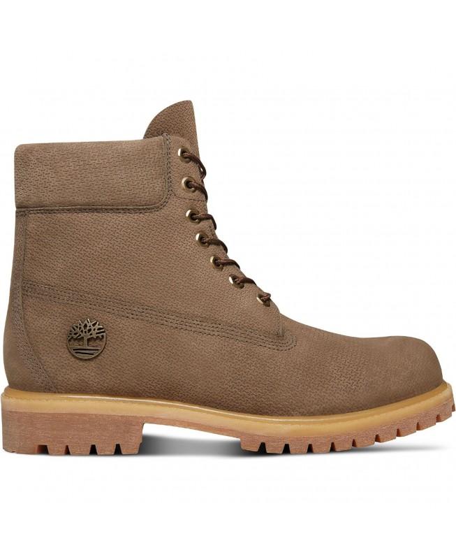 Timberland Men's Premium 6in Waterproof Boot 0A1U8V Olive Nubuck Braun Stiefel Herren