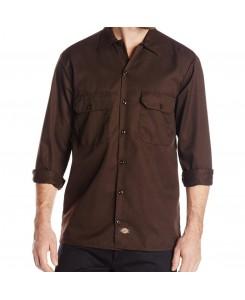 Dickies - 574DB Long Work Shirt Dark Brown