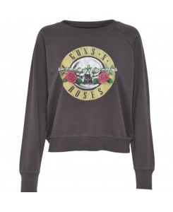 Only - onlGUNSNROSES L/S SWEAT ESS 15143299 Phantom/Roses