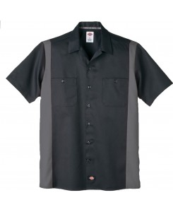 Dickies - WS508BKCH Two Tone Work Shirt Schwarz Charcoal