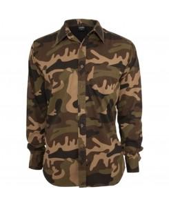 Urban Classics - TB582 woodland, Camo Shirt
