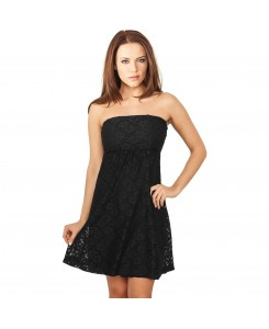 Urban Classics - TB922 black, Ladies Laces Dress,